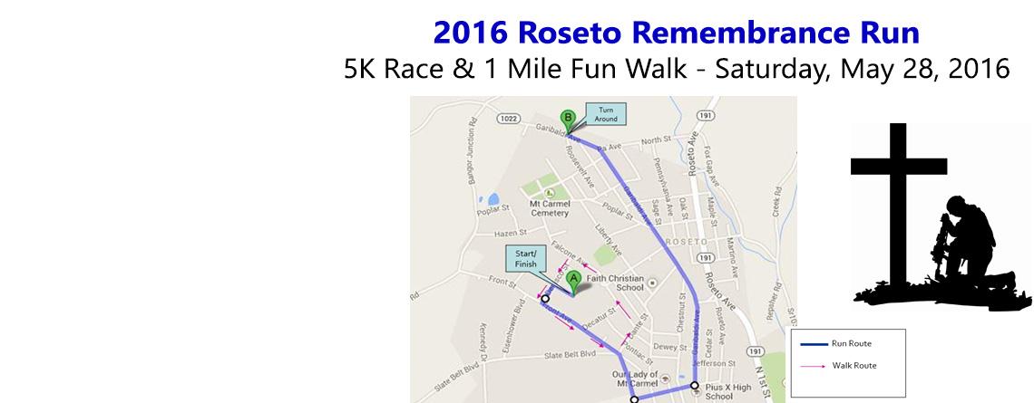Registration for Roseto Rememberance Run Now Open