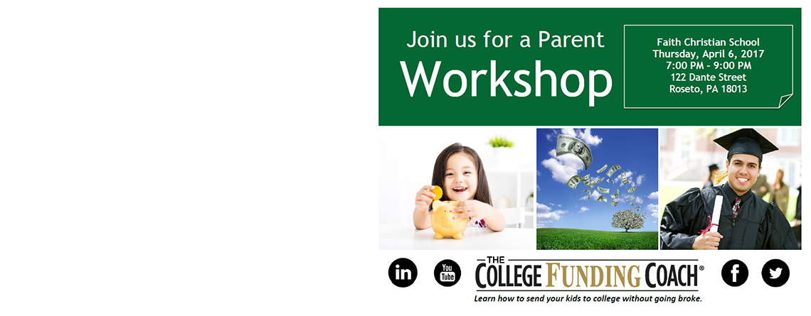 Parent Workshop – Learn how to send your kids to college without going broke
