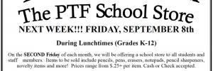 Lions Den School Store – Friday, September 8th