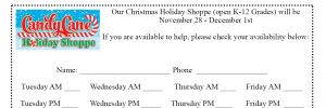 Christmas Holiday Shoppe Signup