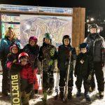 Students and Their Families Enjoying FCS Ski Club