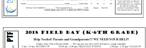 Field Day T-Shirt Order and Volunteer Forms