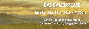 Baccalaureate – Tuesday, May 29th, 2018