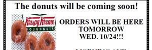 Krispy Kreme Pickup Day – October 24th
