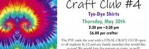 Final Craft Club on May 30th