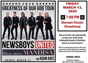 Newsboys Tour 2020.Newsboys Concert March 13th 2020 Faith Christian School